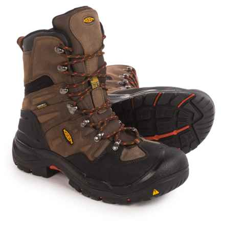 "Keen Coburg Steel Toe Work Boots - Waterproof, 8"" (For Men) in Cascade Brown/Brindle - 2nds"