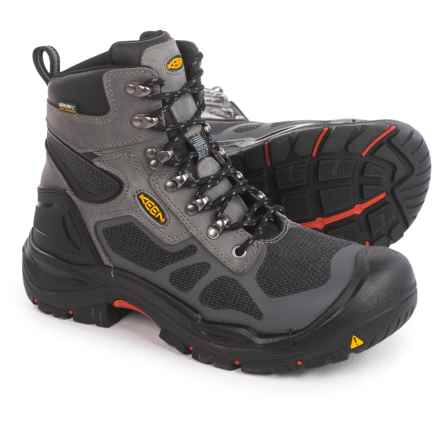 "Keen Concord 6"" Work Boots - Waterproof, Steel Toe (For Men) in Steel Grey/Black - 2nds"
