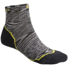 Keen Concord Lite Socks - Merino Wool, Quarter-Crew (For Men) in Smoke/Warm Olive - Closeouts
