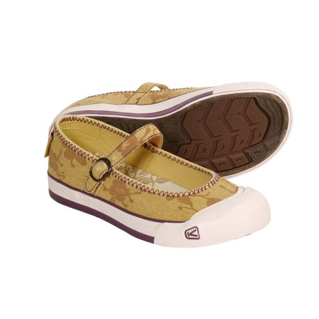 Keen Coronado Canvas Shoes - Mary Janes (For Women) in Ochre/Flower Print