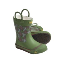 Keen Coronado Rain Boots- Waterproof, Microfleece Lining (For Kids and Youth) in English Ivy - Closeouts