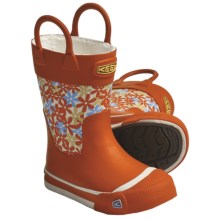 Keen Coronado Rain Boots- Waterproof, Microfleece Lining (For Kids and Youth) in Spicy Orange - Closeouts