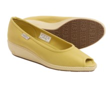 Keen Cortona Wedge CVS Shoes - Canvas, Peep Toe (For Women) in Ceylon Yellow - Closeouts