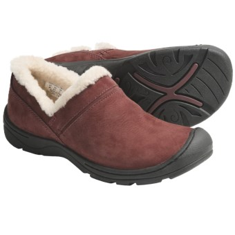 Keen Crested Butte Shoes - Nubuck, Slip-Ons (For Women) in Madder Brown