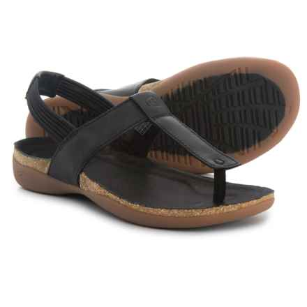 Keen Dauntless Posted Sandals - Leather (For Women) in Black - Closeouts