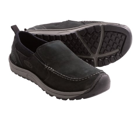 Keen Dillon II Slip-On Shoes - Leather (For Men) in Black