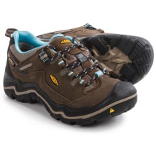 Keen Durand Low Hiking Shoes - Waterproof (For Women) in Dark Earth/Alaskan Blue - Closeouts