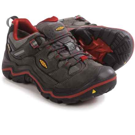 Keen Durand Low Hiking Shoes - Waterproof (For Women) in Magnet/Red Dahlia - Closeouts