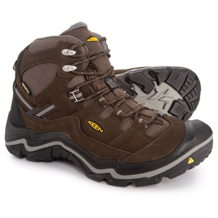 e2c3b2c3fb33 Keen Durand Mid Hiking Boots - Waterproof (For Men) in Cascade Brown  Gargoyle