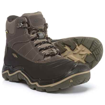 Keen Durand Polar Shell Winter Boots - Waterproof, Insulated (For Men) in Black Olive / Brindle - Closeouts
