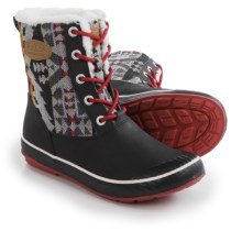 Keen Elsa Duck Boots - Waterproof, Insulated (For Women) in Chili Pepper - Closeouts