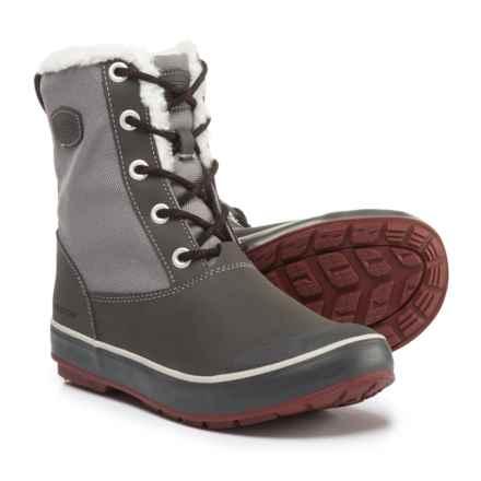 Keen Elsa Duck Boots - Waterproof, Insulated (For Women) in Gargoyle/Magnet - Closeouts