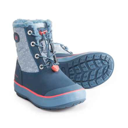 Keen Elsa Snow Boots - Waterproof, Insulated (For Girls) in Captains Blue/Sugar Coral - Closeouts