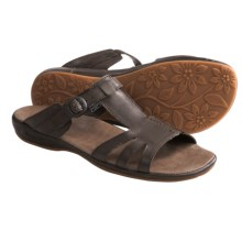 Keen Emerald City II Slide Sandals - Leather (For Women) in Slate Black/Burnt Henna - Closeouts