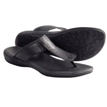Keen Emerald City II Thong Sandals - Leather (For Women) in Black - Closeouts