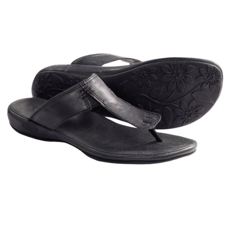 Keen Emerald City II Thong Sandals - Leather (For Women) in Burnt Henna