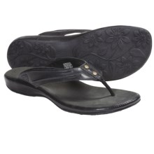 Keen Emerald City Thong Sandals - Leather (For Women) in Black - Closeouts