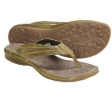 Keen Emerald City Thong Sandals - Leather (For Women) in Mimosa - Closeouts