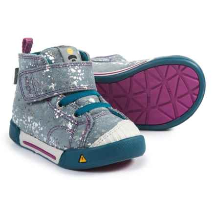 Keen Encanto Scout High-Top Sneakers - Leather (For Girls) in Silver Splatter/Purple Wine - Closeouts