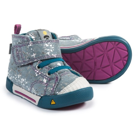 Keen Encanto Scout High-Top Sneakers - Leather (For Girls) in Silver Splatter/Purple Wine