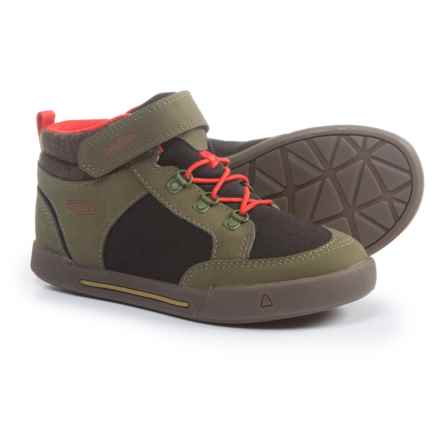 Keen Encanto Wesley II High-Top Sneakers - Touch Fasten (For Boys) in Dark Olive/Black - Closeouts