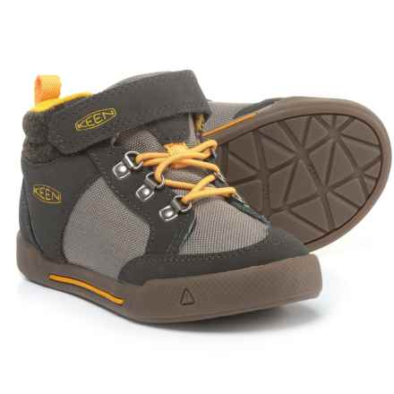 Keen Encanto Wesley II High-Top Sneakers - Touch Fasten (For Boys) in Raven/Steel Grey - Closeouts