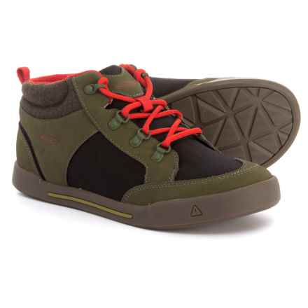 Keen Encanto Wesley II Sneakers (For Boys) in Dark Olive/Black - Closeouts