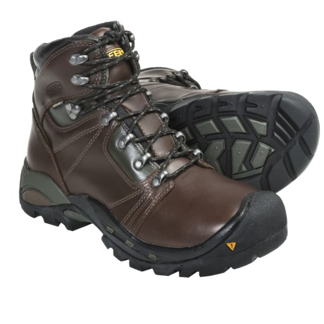 Keen Erickson PCT Hiking Boots - Waterproof, Leather (For Men) in Shitake/Yellow