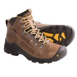 Keen Glarus Mid Hiking Boots - Waterproof, Leather (For Women) in Bison / Slate Black