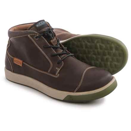 Keen Glenhaven Mid Sneakers - Leather (For Men) in Cascade Brown - Closeouts