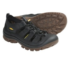 Keen Glisan Sport Sandals - Leather (For Men) in Black - Closeouts
