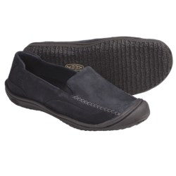 Keen Golden Loafer Shoes - Leather, Slip-Ons (For Women) in Potting Soil