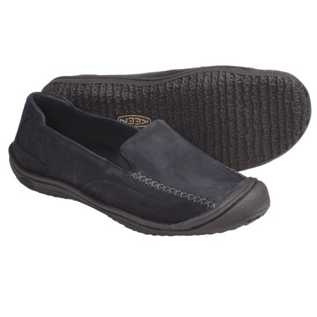 Keen Golden Loafer Shoes - Leather, Slip-Ons (For Women) in Black