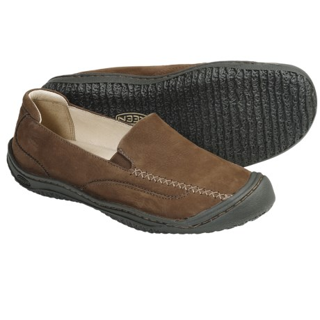 Keen Golden Loafer Shoes - Leather, Slip-Ons (For Women)