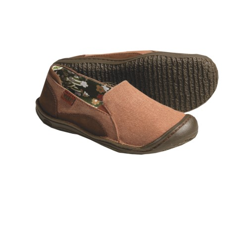 Keen Golden Summer Natural Canvas Shoes - Slip-Ons (For Women) in Rust