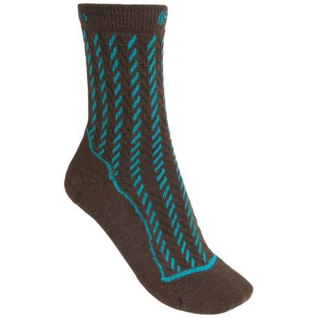 Keen Gracie Lite Socks - Merino Wool, Crew (For Women) in Slate Black/Caribbean