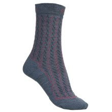 Keen Gracie Lite Socks - Merino Wool, Crew (For Women) in Steel Blue/Rose/Charcoal - Closeouts