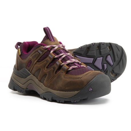 Keen Gypsum II Hiking Shoes - Waterproof (For Women) in Brindle/Dark Purple