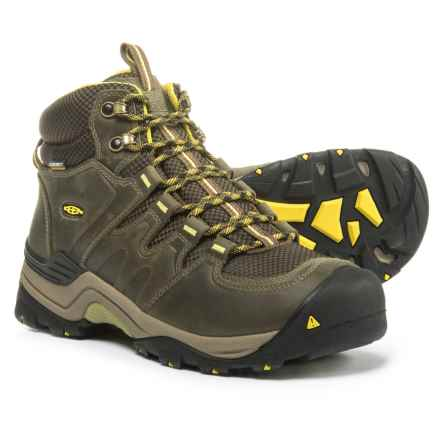 Keen Gypsum II Mid Hiking Boots - Waterproof, Leather (For Men) in Forest Night/Warm Olive - Closeouts