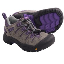 Keen Gypsum Trail Shoes - Leather (For Kids) in Gargoyle/Purple Heart - Closeouts