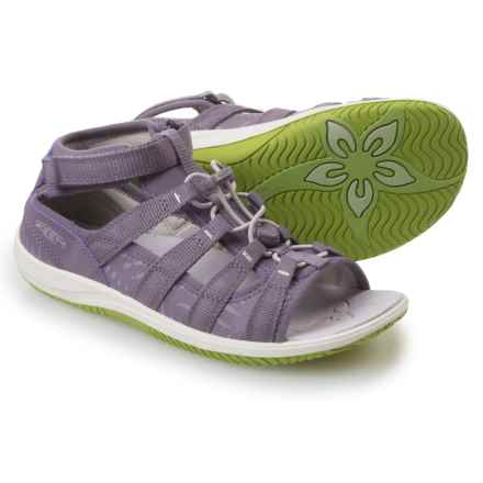 Keen Hadley Sport Sandals (For Big Girls) in Purple Sage/Greenery - Closeouts