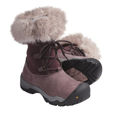 Keen Helena Boots - Waterproof, Insulated (For Women) in Fudge/Wood Rose