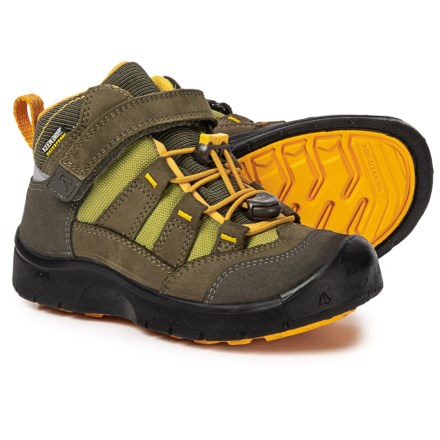 99c9c8948466 Keen Hikeport Mid Hiking Boots - Waterproof (For Little and Big Kids) in  Dark