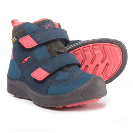 Keen Hikeport Mid Strap Boots - Waterproof (For Girls) in Dress Blues/Sugar Coral - Closeouts