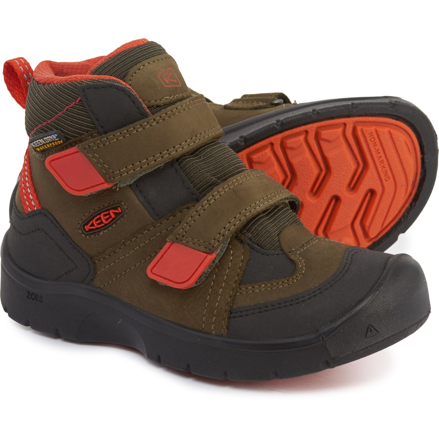 on sale f7427 c9a55 Keen Hikeport Mid Strap Hiking Boots (For Toddler Boys ...