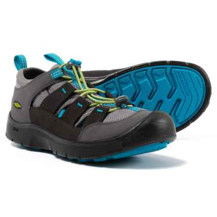 Keen Hikeport Vent Shoes (For Little and Big Boys) in Magnet/Greenery - Closeouts