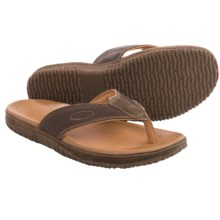Keen Hilo Leather Flip-Flops (For Men) in Dark Earth - Closeouts