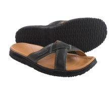 Keen Hilo Slide Sandals - Leather (For Men) in Raven - Closeouts
