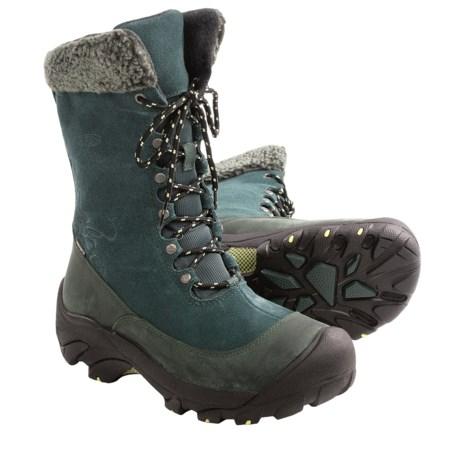 Keen Hoodoo II Snow Boots - Waterproof, Insulated (For Women) in Darkest Spruce/Custard