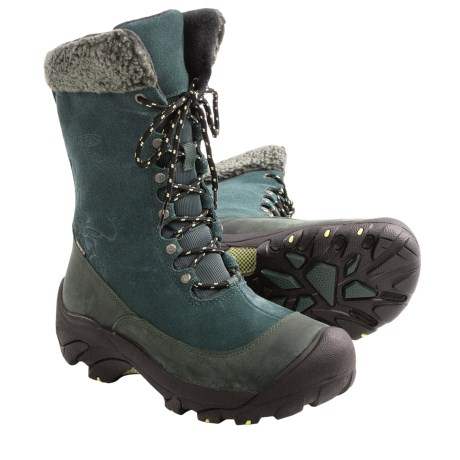 Keen Hoodoo II Winter Boots - Waterproof, Insulated (For Women) in Darkest Spruce/Custard